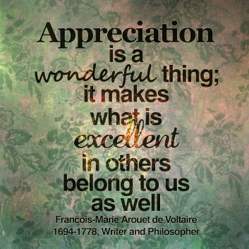 Appreciation is a wonderful thing copy